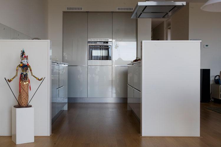 """Nieuwbouwappartement Kop van Oost Groningen. """"Een rustige, ruimtelijke indeling met mooi uitzicht voor een echtpaar met uiteenlopende smaken."""""""