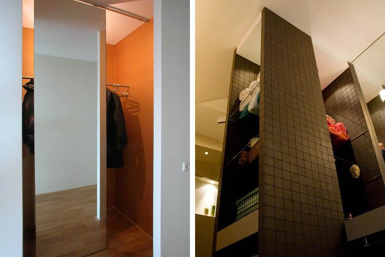 Opbergkast Voor Badkamer : A kvo verschuifbare spiegel voor garderobe onttrekt zicht op