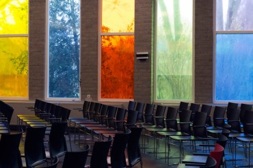 Ontwerp glaswand kerkzaal De Voorhof Westerbork