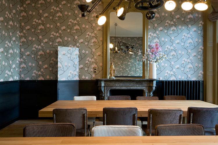 Het interieur onderscheidt zich door spannende combinaties van stijlen en materialen