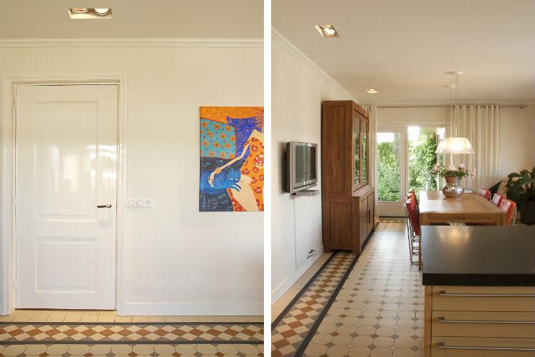 In de details komen nieuw design en authentiek elkaar tegen - De nieuwe woonkeuken is voorzien van openslaande deuren naar de tuin