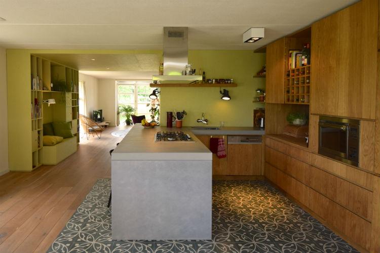 Ontwerp interieur met maatwerk kast en keuken Woonhuis Groningen ...