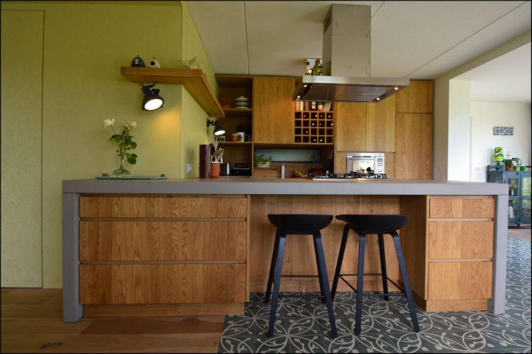 Design Keuken Groningen : Aanzicht kookeiland van maatwerk keuken woonhuis groningen denkruim